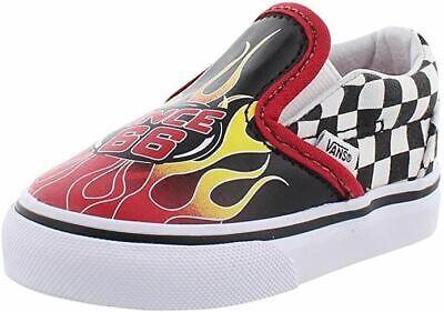 Vans Toddler's Classic Slip-On Flame Black Racing VN00EX8UJ6