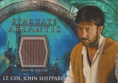 STARGATE ATLANTIS SEASONS 3 & 4 - COSTUME CARD Lt Col John Sheppard
