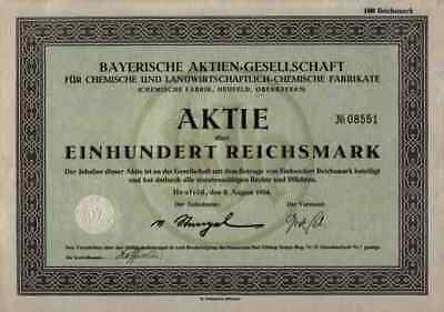 Süd Chemie Heufeld AG 1924 München Salzburg Deggendorf  Historische Wertpapiere