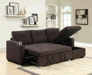 SOFA BED WITH SECTIONALS AND STORAGE ON SALE !!!CUP HOLDER ALSO