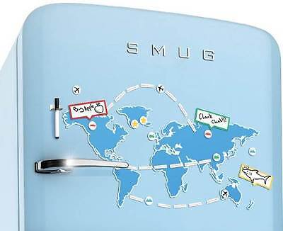 Mapnetic | Magnetic Dry Wipe World Map Set Fridge Magnet By Luckies
