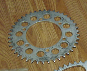 Gently used race sprocket gearing 42 tooth for YZF motorcycles