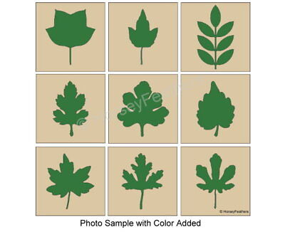 NEW-Leaf Shapes~Bundle-9 STENCILS~Play Leaves Fall Autumn DIY U Paint Country  - Fun Halloween Diy
