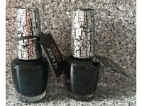 OPI x 50 Bottles Job Lot Black & Green Shatter Nail Polish - NEW (£0.98 each)
