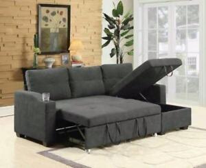 BRAND NEW SECTIONAL SOFA,PULL OUT BED,LIFT UP STORAGE AND CUP HOLDERS ON SALE!!SOFA BED FROM 599$ ONLY