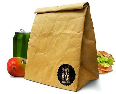 Luckies Brown Paper Breakfast Bag Retro Style Reusable Lunchbox Ebay