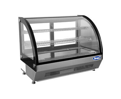 Atosa Crdc-35 27.6 Refrigerated Countertop Display Curved Glass Case Free Lift