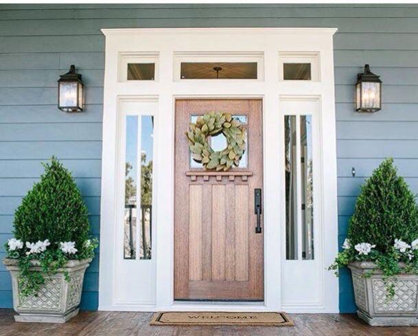 ON SALE! 8FT KNOTTY ALDER CRAFTSMAN ENTRY DOOR WITH SIDE LITES & TRANSOM