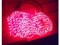 15m red rope lights