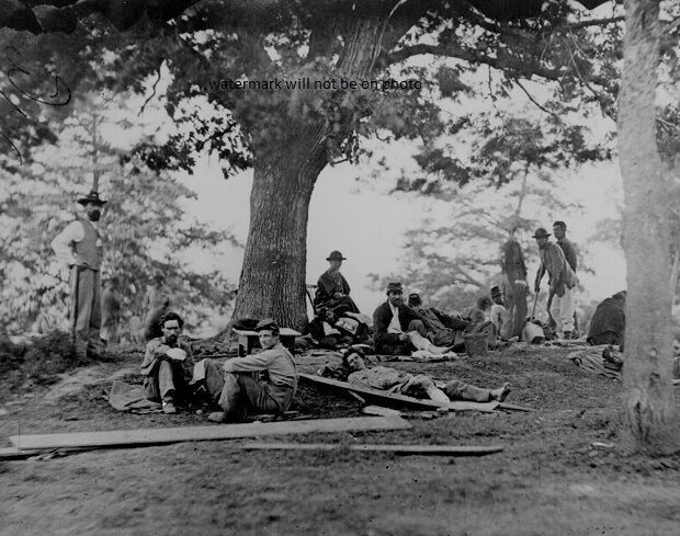"""Wounded soldiers after Battle of Spotsylvania 8""""x 10"""" Civil War Photo Picture 84"""