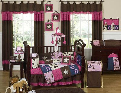 Discount Horse Western Cowgirl Baby Bedding Crib Set for Newborn Girl Sweet Jojo ()