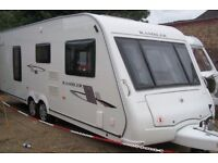 Compass Rambler Caravan 20-4SE, 4 berth, twin axle, 2009 with motor mover.