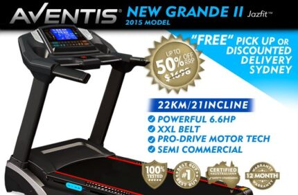 BRAND NEW GRANDE II 2015 MODEL TREADMILL MASSIVE HP XXL BELT NSW Sydney Region Preview