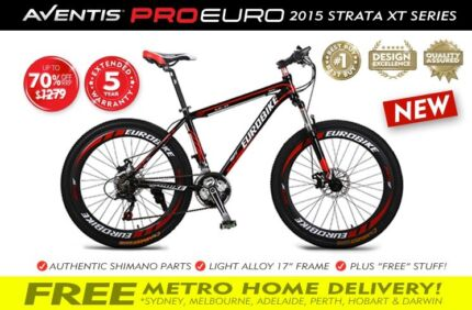 "BRAND NEW 2015 RED 26"" PERFORMANCE PROEURO MOUNTAIN BIKE BRQLD Brisbane Region Preview"
