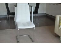 Bargain!!! White leather dining chair