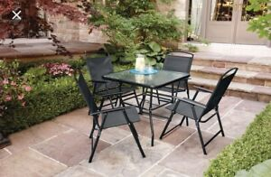 5 piece outdoor table and chair set