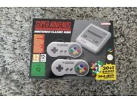 Snes mini console Nintendo Christmas present two controllers