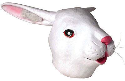 ADULT WHITE EASTER BUNNY RABBIT LATEX MASK HARE FARM ANIMAL COSTUME MASKS ](Latex Bunny Mask)