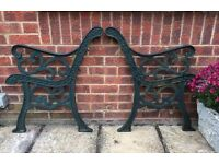 Cast iron bench ends or chair ends # 7 sets Available
