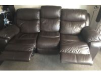 2 identical Harvey's electric 3 seater recliners