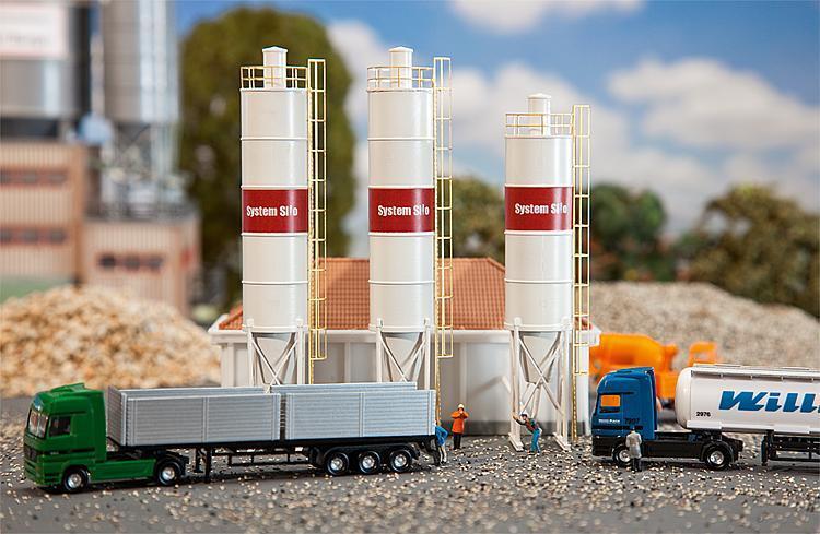 Faller 222207 N Gauge 3 Industrial Silos # New Original Packaging #