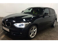 Black BMW 116d 2.0 2015 5 door Low Tax Sport FROM £57 PER WEEK!