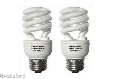 TWO 150W Output CFL Fluorescent Light Bulbs 33 Watts Daylight White BRIGHT 6400K
