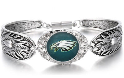 Eagles Sterling Silver Eagles (Philadelphia Eagles Women's Sterling Silver Bracelet Football Gift +GiftPkg)