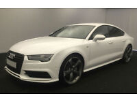 White AUDI A7 HATCHBACK 3.0 TDI Diesel SPORT S LINE FROM £119 PER WEEK!