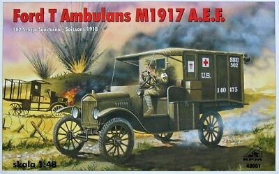 Ford T WW1 Ambulance M1917 in French, Polish Army (1/48 model kit, RPM (Army Model)