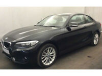 Black BMW 218 1.5 Petrol coupe 2016 i SE FROM £62 PER WEEK!