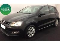 £119.00 PER MONTH BLACK 2013 VW POLO 1.4 MATCH 5 DOOR PETROL MANUAL
