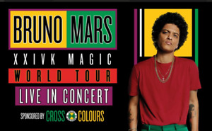 BRUNO MARS TORONTO 9/22 @ 8:00 SECTION 117 Beside the stage!