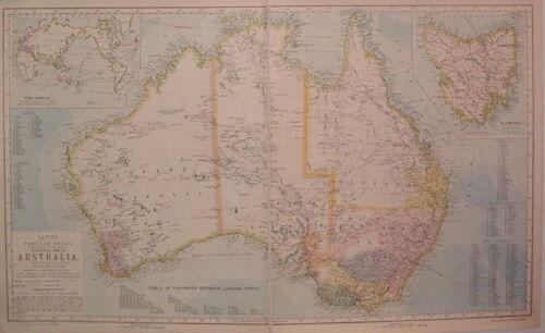 AUSTRALIA Map c. 1883 Letts, Sons & Co.