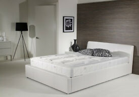 Double, ottoman, leather bed, Hydraulic lift bed, Memory Foam Mattress. Black, Brown, storage bed,