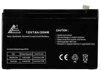 Titan Notebook 12V 7Ah Sealed Lead Acid Battery 12Volt 7Amp Replaces 12V 8Ah