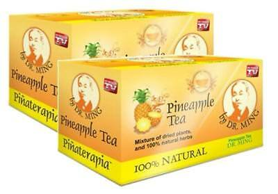 4 Box Dr Ming Pina Pineapple Tea  60 Bags  Dr  Ming Chinese Weight Loss Te De
