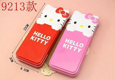 New Cute Hellokitty Metal Pencil Box Pen Case Portable Kid School Supply Kt9213