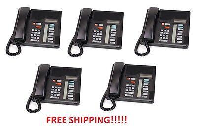 Nortel Norstar Meridian M7208 Black Phone Nt8b30 Qty Of 5 Phones Free Shipping