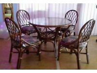 Cane/Wiker furniture fantastic condition from sterling warehouse. 10 tables & 40 chairs