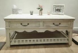 Very large shabby chic console table