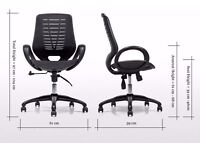 £55.00 Black Made com Buro Mesh seat and back office chair fully adjustable and assembled