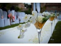 70cm Martini vases - Wedding & Event vases for HIRE in Norfolk - £8 each, 12 available