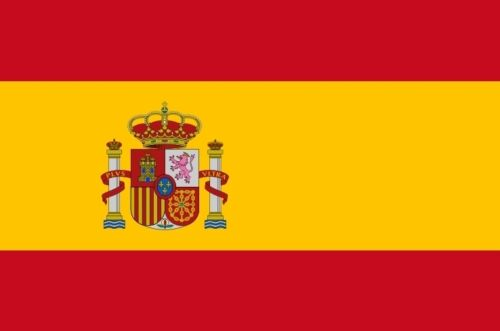 SPAIN FLAG 8X5 feet HUGE with Royal Crest Madrid Spanish royalty ESPANA FLAGS