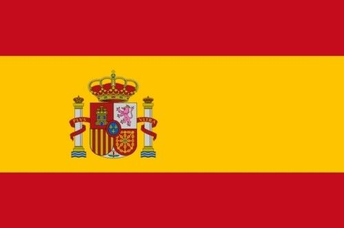 SPAIN FLAG with crest 5X3 FEET MADRID ZARAGOZA SPANISH