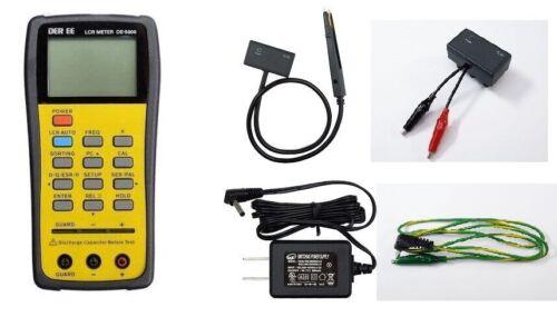 DER EE Handheld LCR Meter DE-5000 bundle TL-21 /TL-22 /TL-23/AC Adapter