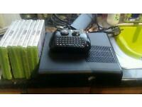 Xbox 360 slimline with controller and few games
