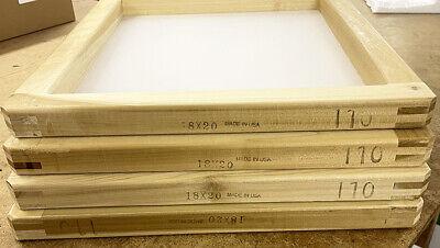 6 Pack 1820 Wood Screen Printing Frame W 110 Mesh 1820110