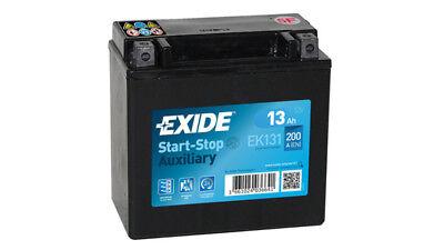 EXIDE  Start-Stop Auxiliary 12V 13AH AGM Exide Backup / Zusatzbatterie  EK131
