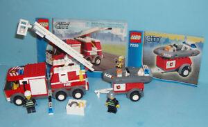 LEGO CITY no 7239, le CAMION des POMPIERS